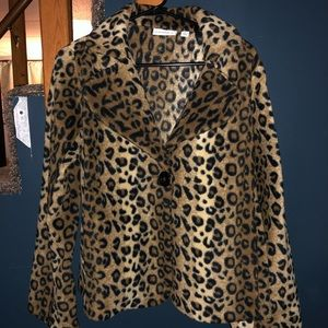 Susan Graver leopard jacket size Medium